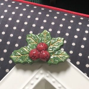 Nora Fleming Mini Holly Berries NF, retired